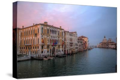Sunset Along the Grand Canal and Salute, Venice, Italy