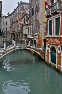 Venice, Italy. Canal with Arched Bridge by Darrell Gulin