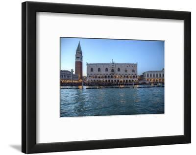 View of St. Marks Square and Doge Palace from Canal, Venice, Italy