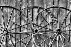 Wooden fence and old wagon wheels, Charleston, South Carolina by Darrell Gulin