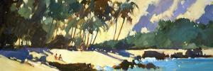 Morning Shadows on the Beach by Darrell Hill