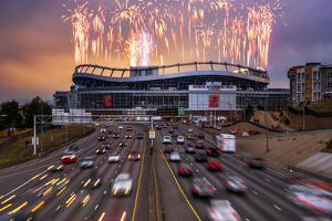 Broncos Win AFC Championship Game 2016 by Darren White Photography