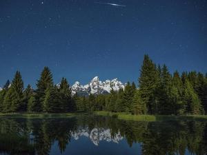 Iridium Flare over Grand Teton by Darren White Photography