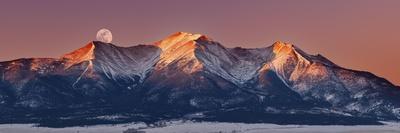 Mount Princeton Moonset at Sunrise