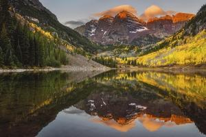 Sunkissed Peaks Bright by Darren White Photography