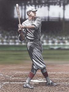 Babe Ruth as a Red Sox by Darryl Vlasak