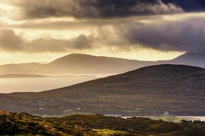 Darrynane Bay, Looking at Bera and Slieve Miskish Mountains over the Kenmere River, County Kerry-Chris Hill-Photographic Print