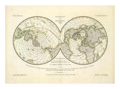 Darstellung Der Isodynamischen Linien, c.1839-Heinrich Berghaus-Art Print
