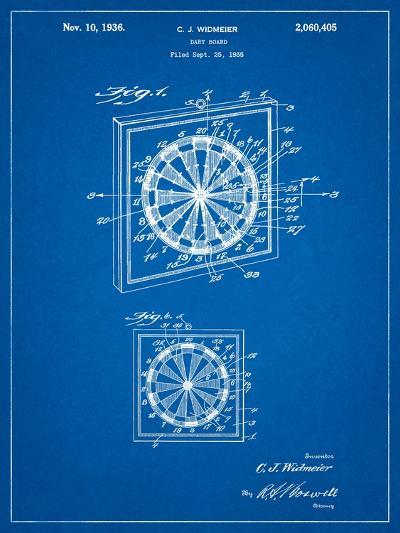 Dart Board 1936 Patent-Cole Borders-Art Print