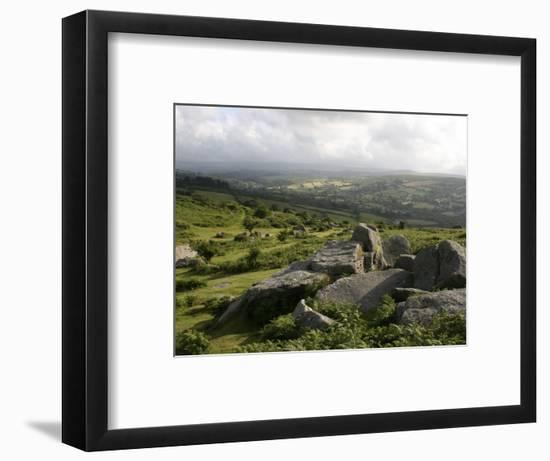 Dartmoor, View Southeast from Bonehill Rocks, Devon, England, United Kingdom, Europe-Lomax David-Framed Photographic Print