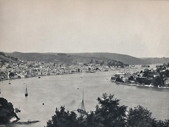 'Dartmouth - General View, Showing the Britannia Floating Naval College', 1895-Unknown-Photographic Print