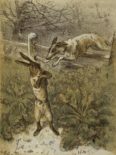 Das Häschen (Little Rabbit), 1863-Theodor Hosemann-Giclee Print