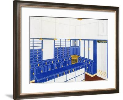 Das Interieur Iv, a Glove Shop, 1906 (Colour Litho)-Johann Stubner-Framed Giclee Print