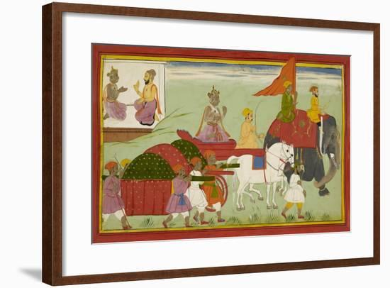 Dasaratha Sets Out For Anga--Framed Giclee Print