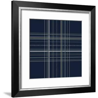 Dashed Line Dark Blue-Jennifer Nilsson-Framed Giclee Print