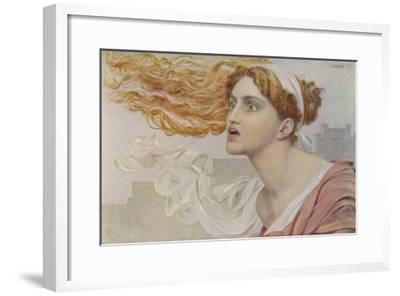 Daughter of King Priam of Troy She was an Infallible Prophetess-Frederick Sandys-Framed Giclee Print