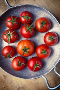 Rustic Tomatoes by daughter