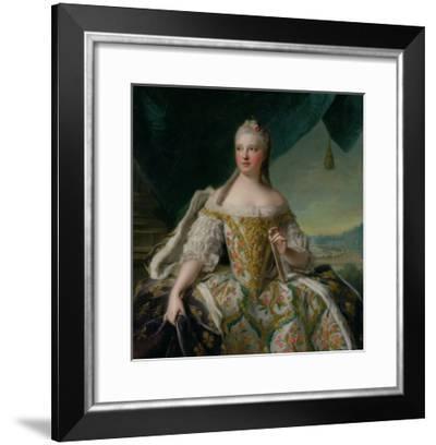 Dauphine Marie-Josephe De Saxe (1731-67) 1751-Jean-Marc Nattier-Framed Giclee Print