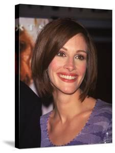 """Actress Julia Roberts at Premiere of Her Film """"My Best Friend's Wedding"""" by Dave Allocca"""