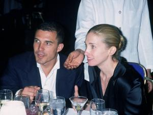 Andre Balazs Seated with Caroline Bessette Kennedy by Dave Allocca