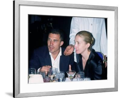 Andre Balazs Seated with Caroline Bessette Kennedy