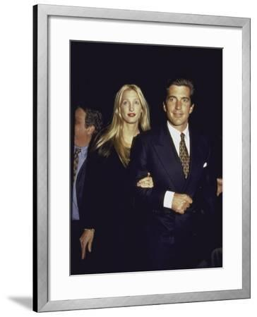 John F. Kennedy Jr. and Wife Carolyn at George Magazine's 2nd Anniversary Party