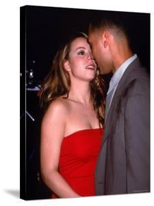 Mariah Carey with Boyfriend, Baseball Player Derek Jeter at Rapper Puff Daddy's Birthday Party by Dave Allocca
