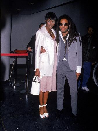 Model Naomi Campbell and Singer Lenny Kravitz