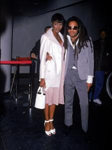 Model Naomi Campbell and Singer Lenny Kravitz by Dave Allocca
