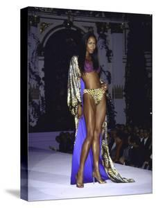 Model Naomi Campbell on Fashion Runway by Dave Allocca