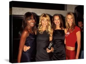Models Naomi Campbell, Claudia Schiffer, Christy Turlington and Elle MacPherson by Dave Allocca