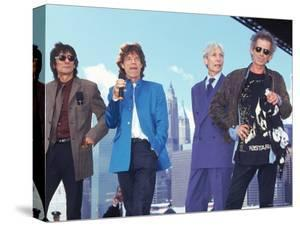 Musicians Ronnie Wood, Mick Jagger, Charlie Watts and Keith Richards of the Rolling Stones by Dave Allocca