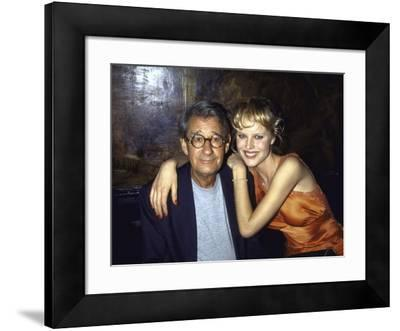 Photographer Helmut Newton and Model Eva Herzigova