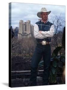 Singer Garth Brooks in Central Park by Dave Allocca