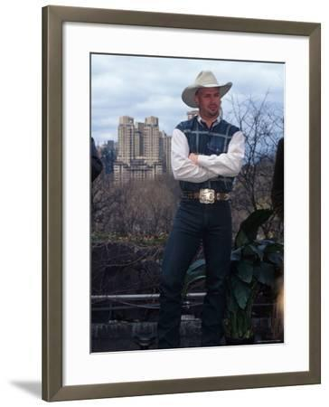 Singer Garth Brooks in Central Park