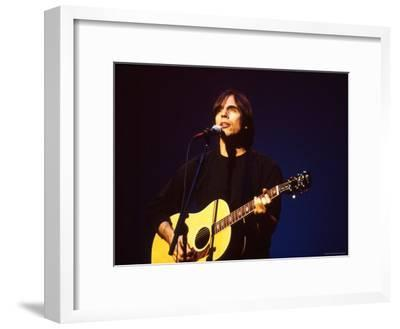 Singer Jackson Browne Performing