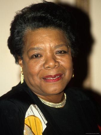 Writer/Actress Maya Angelou