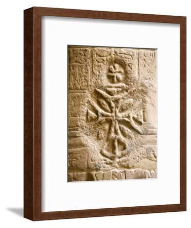 Christian Cross on a Wall Inside Philae Temple, Aswan, Egypt