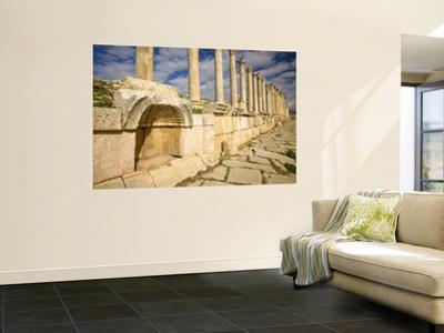Corinthian Columns and Tracks of Chariot Wheels, Jerash, Jordan