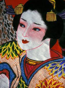 Geisha, Warrior Folk Art, Takamatsu, Shikoku, Japan by Dave Bartruff