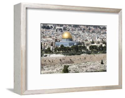Moslem Golden Dome of the Rock, Outside Walls, and Historic Jewish Cemetery, City of JerUSAlem