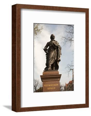 Statue of Felix Mendelssohn, St Thomas Church, Church of Bach, Leipzig, Germany