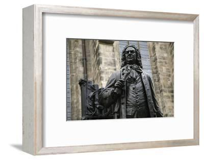 Statue of J. S. Bach, Courtyard of St. Thomas Church, Leipzig, Germany