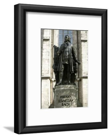 Statue of J. S. Bach on Grounds of St. Thomas Church, Leipzig, Germany