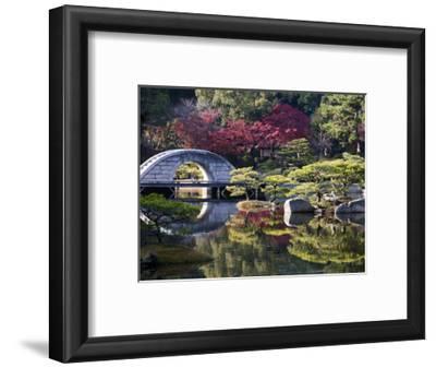 Stone 'Rainbow' Bridge or 'Koko-Kyo', Hiroshima's Shukkeien Formal Garden Dating to Ad 1620, Japan