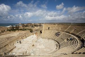 The Theater of Caesarea on the Shores of the Mediterranean Sea, Caesarea, Israel by Dave Bartruff