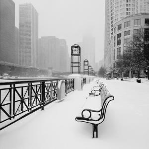 Chicago River Promenade in Winter by Dave Butcher