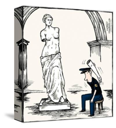 Speed Bump™ - A museum security guard is using an arm from the Venus De Mil