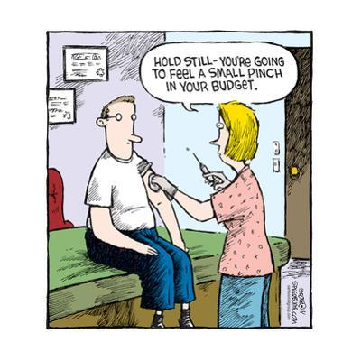 Speed Bump™ - Hold still - You're going to feel a small pinch in your budget. by Dave Coverly