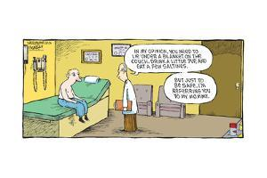 Speed Bump™ - Lie under a blanket, drink a little 7Up... But, just to be su by Dave Coverly